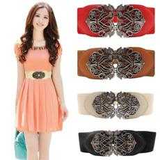 Leather belt, flowerpattern, Vintage, waist belt