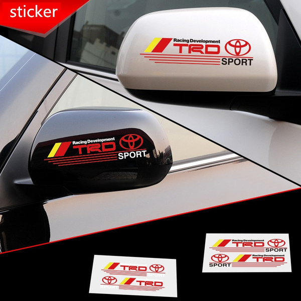 Car Sticker, toyotacarbadge, rearviewmirrorsticker, Stickers