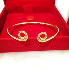 yellow gold, bangle bracelets, polished, Jewelry