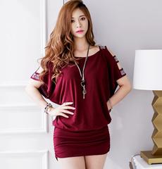 Mini, Strapless Dress, short sleeve dress, hollowoutdres