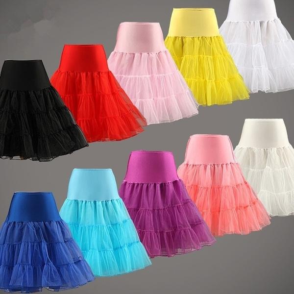 black skirt, shortpetticoat, tulle, kneelengthskirt