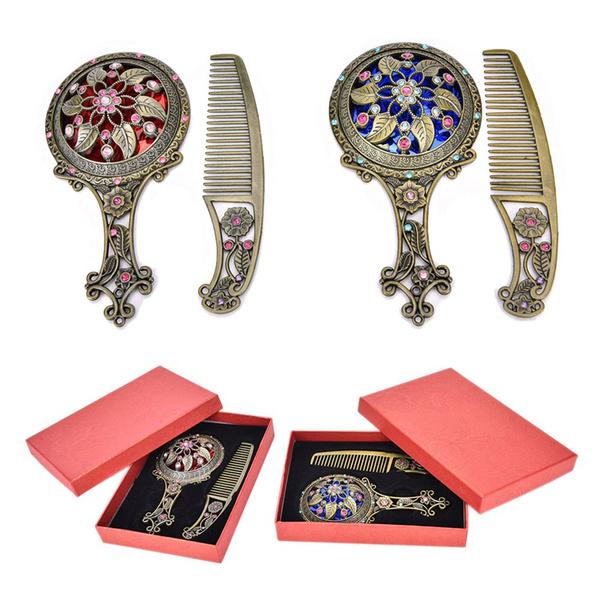 Box, Gifts, Beauty, mirrorcombset