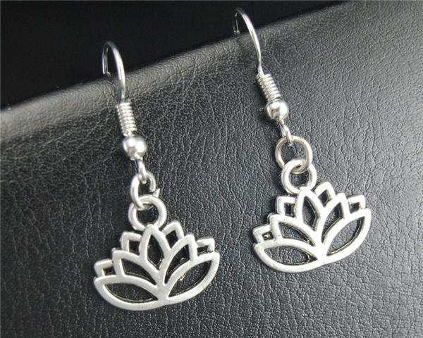 dangledrop, lotusflowerdangleearring, diy, Flowers