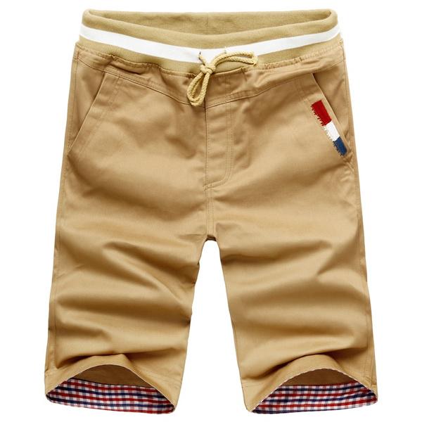 Shorts Men Summer Fashion Mens Shorts Casual Cotton Slim Bermuda Masculina  Beach Shorts Joggers Trousers Knee Length Shorts   Wish