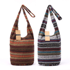 women's shoulder bags, cottonbag, bohemianstylelaundrybag, boho
