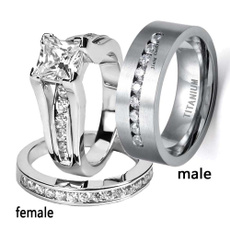 Couple Rings, mensfashionring, whitegoldring, titanium steel