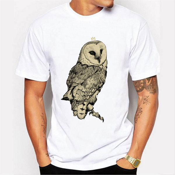 Owl, Printed T Shirts, Shirt, Sleeve