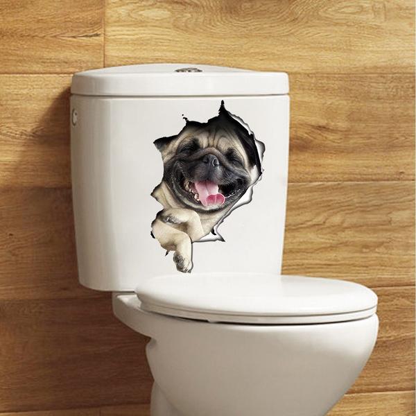 toilet, Bathroom, art, Removable