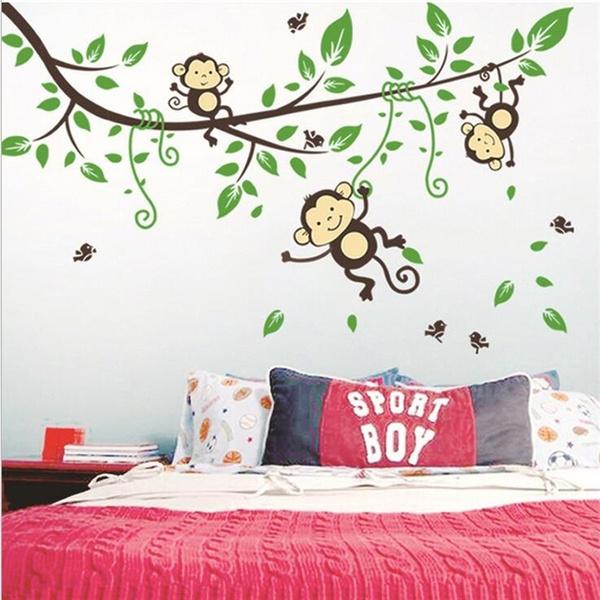monkeywallsticker, Wallpaper, monkey, wallstickersforkidsroom