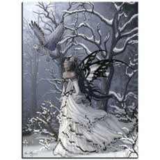 DIAMOND, snowtree, diamondpaintingcrossstitch, beautifullady