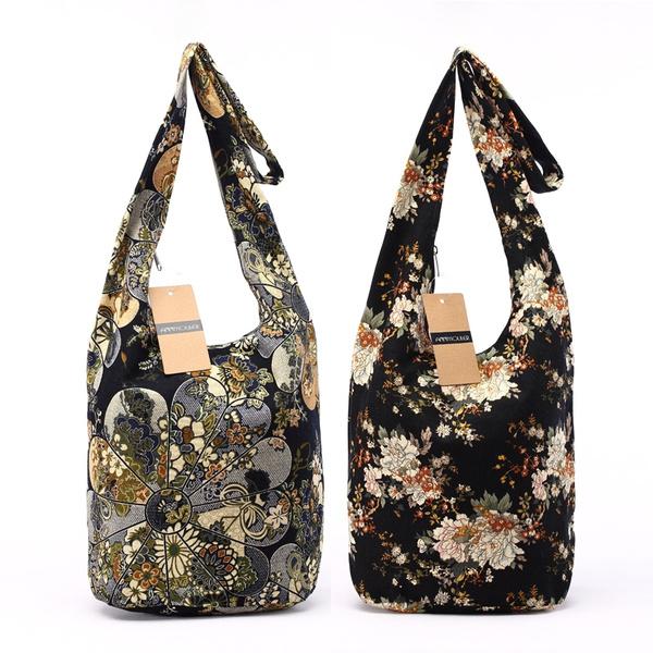 cottonbag, Shoulder Bags, Capacity, bohemianbag