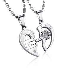 lettersnecklace, Steel, titanium steel necklace, Key Chain
