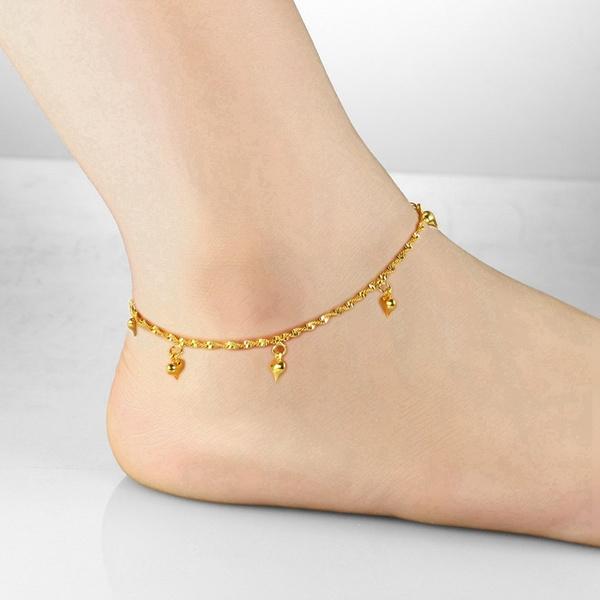 goldplated, Summer, Anklets, gold