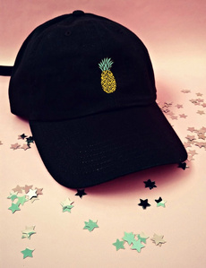 pineappleprint, Fashion, adjustablecap, unisex