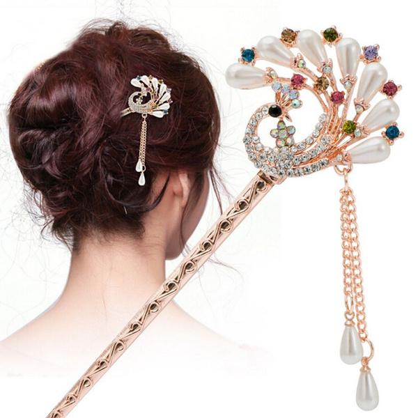 butterfly, hair, Tassels, Flowers