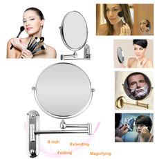 Makeup Mirrors, Foldable, Bathroom, wallmirror
