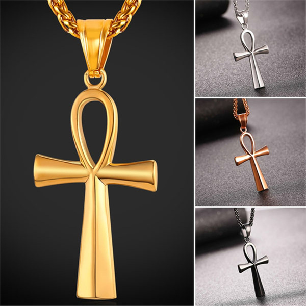 Steel, keyoflife, necklaces for men, egyptianjewelry