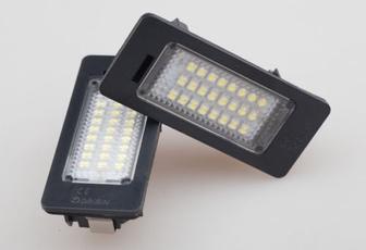 led, 2pcsset, carheadlight, errorfreelicenseplatelight