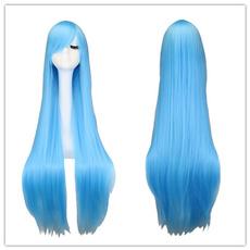 wig, light blue, Cosplay, lights