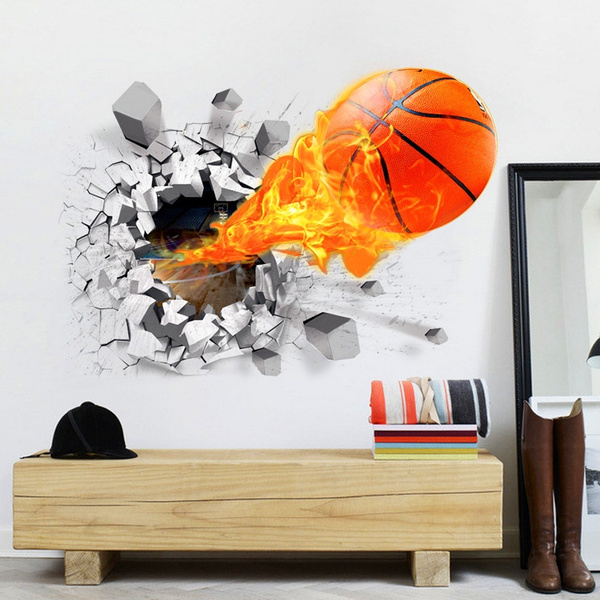 PVC wall stickers, Decor, Basketball, Home Decor