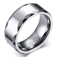 8MM, tungstenring, bandring, wedding ring