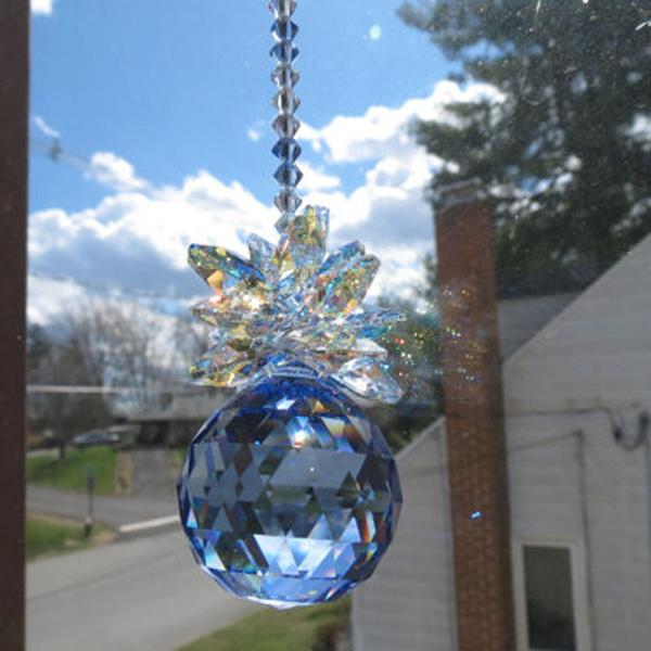 crystalhangingdecoration, rainbow, crystalprismschandelier, Blues