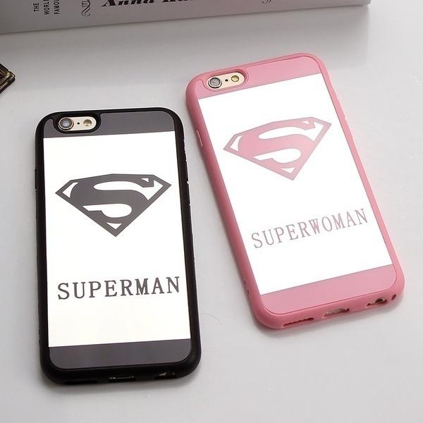 fashion.fashion.Luxury Superman Superwoman Mirror Surface TPU Case for IPhone 7 7Plus 6s 6Plus 5 5s SE Back Cover Phone Cases Coque Fundas.xm   Wish