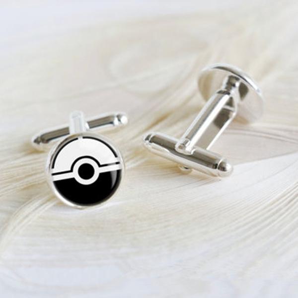 Pokeball cufflinks Pokemon jewelry Pokemon cufflinks
