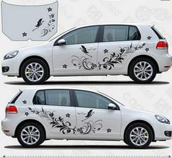 decalsampbumpersticker, Car Sticker, Flowers, Butterflies