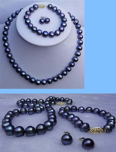 Earring, Set, black, Jewelry