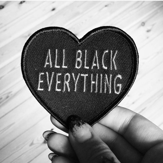 Heart, allblackeverything, Applique, Sewing