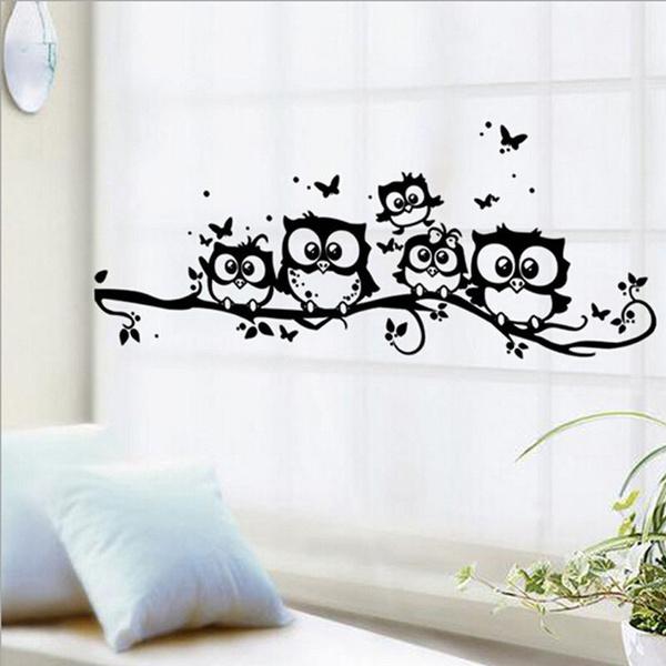 butterfly, Owl, art, Home Decor