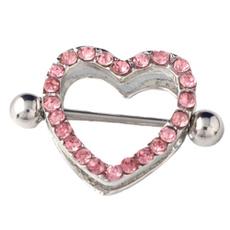 Steel, Heart, Bar, Jewelry