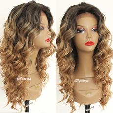 wig, Medium, Lace, human hair