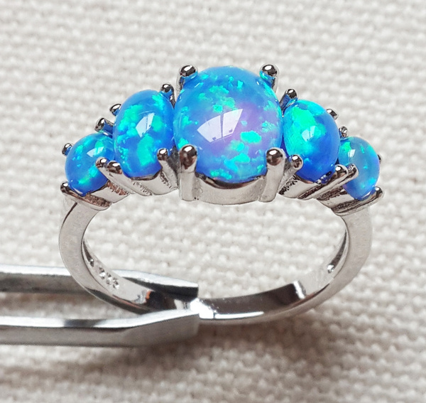 Blues, fireopal, Jewelry, opalring