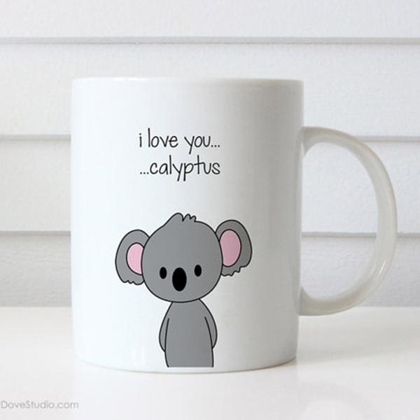 Funny Coffee Mug For Girlfriend Boyfriend Wife Husband Koala I Love You Cute Anniversary Birthday Gifts Gift Ideas Love Quote Mugs Her Him Wish