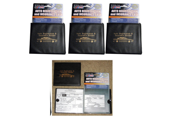 Document Id Black Case for Car Truck Boat Set of 4 Auto Car Registration Insurance Hоldеr Wallet limited edition.