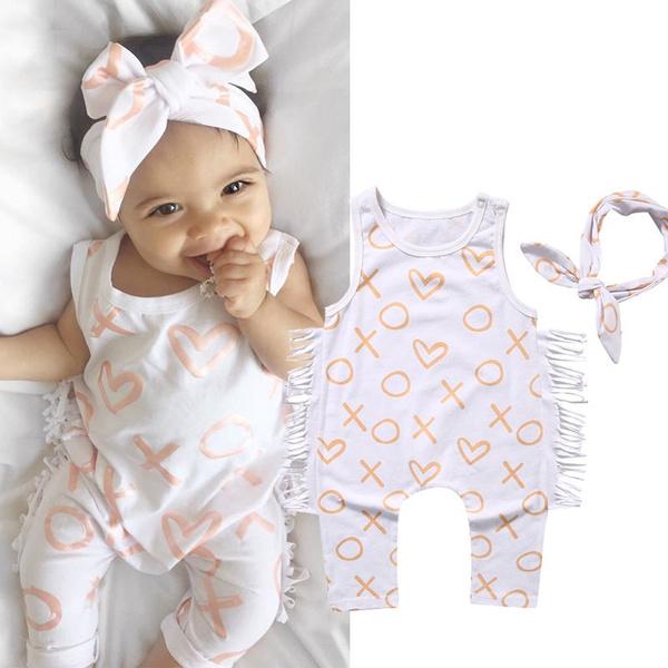 Tassels, babyheadband, Cotton, infantgirlsromper