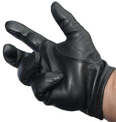 leather, black, Gloves, policetacticalleatherglovesblack