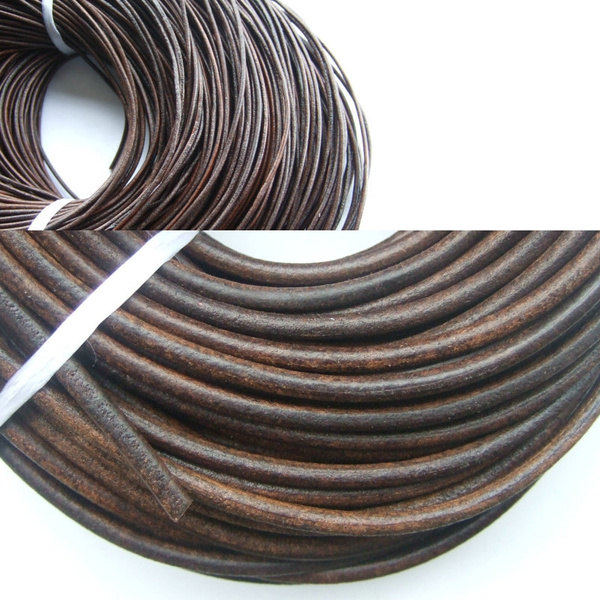 Cord, brown, roundleathercord, Jewelry