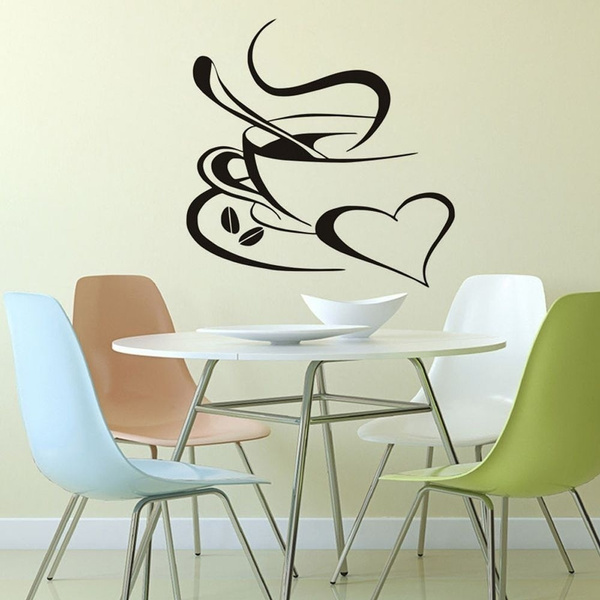 Hot Selling Removable Kitchen Wall Decor Diner Feel Comfortable Home Decoration Art Decor Vinyl Decals Wall Decor Poster Wall Sticker Coffee Cup Decals Wish