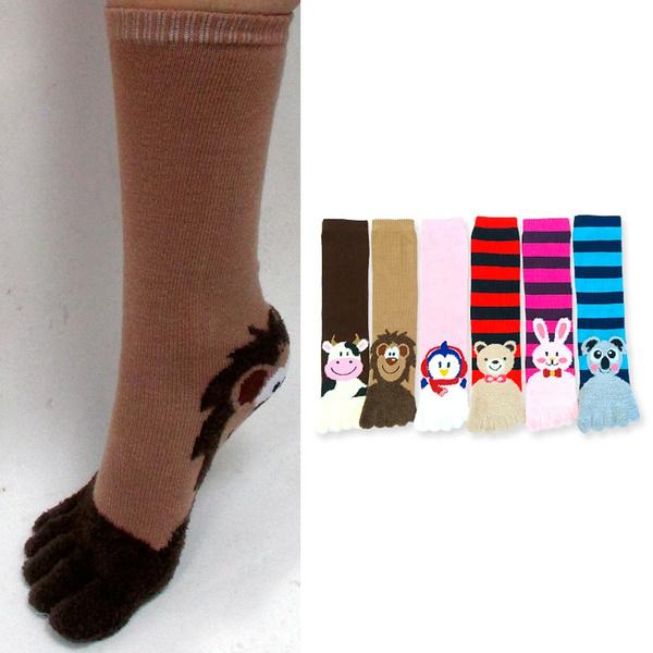 New, Striped, Socks, Animal