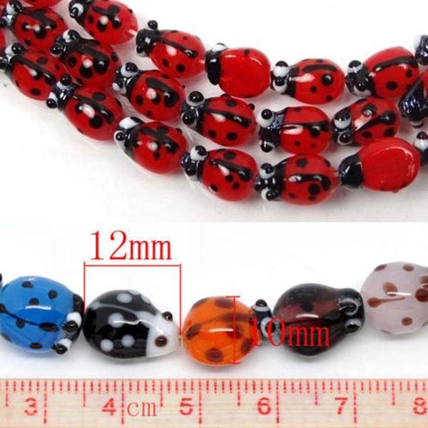 ladybug, diyjewelry, Fashion, spacersbead