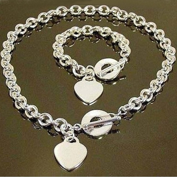Sterling, Heart, Jewelry, Chain