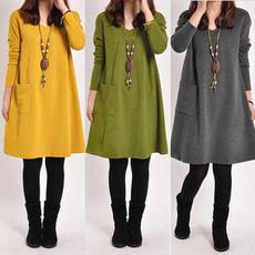 Fashion, Long Sleeve, Tunic dress, Women's Fashion