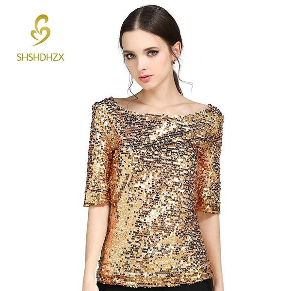 Plus Size, camisasfemininas2016, gold, blusasmujer