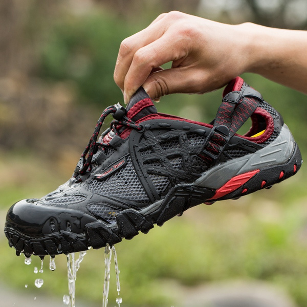 Z.L.F Sport Shoes Men Summer Breathable Low-top Sneakers Outdoor Mountaineering Shoes Cross-Country Athletic Shoes