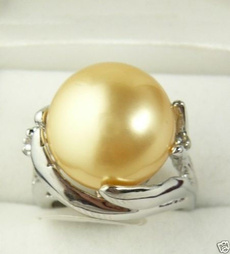 golden, Jewelry, Silver Ring, Yellow