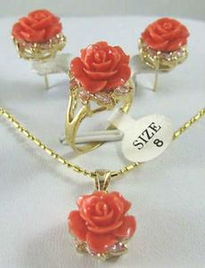Beautiful, Flowers, Jewelry, gold
