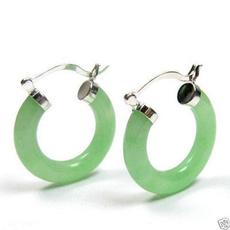 Earring, Hoop Earring, Green, Jewelry